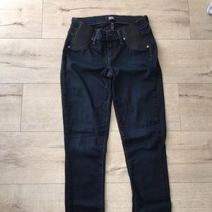 Paige maternity dark jeans